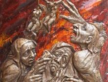 Relieftafel von Anni Jung. Vor über einem viertel Jahrhundert erstellt.