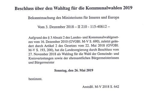 Am 26. Mai 2019 wird in Schwerin die nächste Stadtvertretung gewählt.