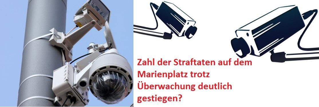 Fakten: Straftaten auf dem Marienplatz steigen anscheinend trotz (oder wegen)  Überwachung.